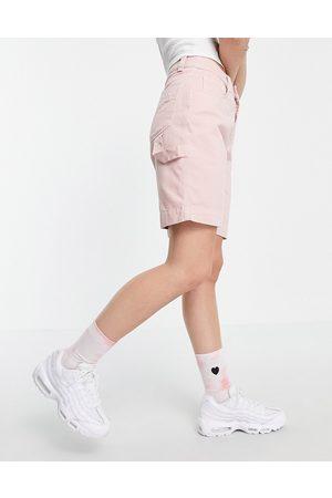 Kickers Women Shorts - Combat shorts with pocket logo-Pink