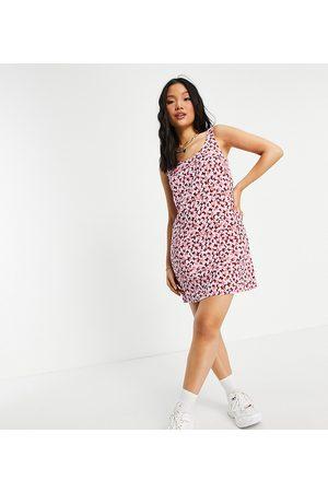 Pieces Exclusive mini shift dress in -Multi