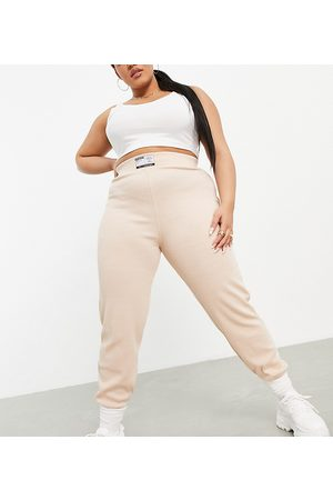 PUBLIC Motif waffle textured trackies in -Neutral