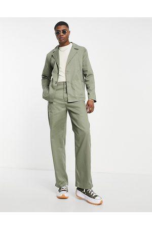 Bando Men Wide Leg Pants - Rudie co-ord wide leg pants in olive-Green