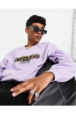 Vintage Supply Men Sweatshirts - Embroidered patch washed sweatshirt in