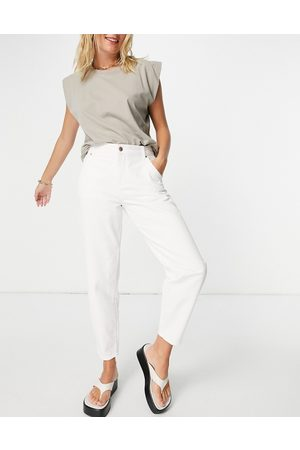 ONLY Women Tapered - Troy tapered leg jeans with high waist in -White