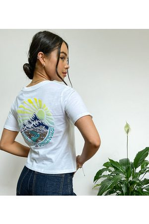 Element Positivity crop back print t-shirt in Exclusive at ASOS
