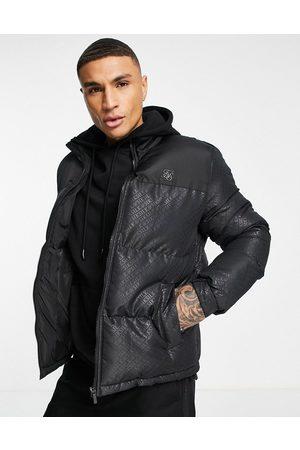 SikSilk Men Winter Jackets - Printed bubble padded jacket in