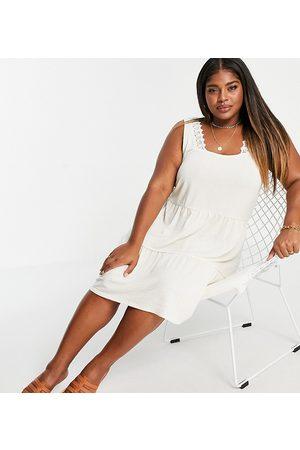 VERO MODA Women Mini Dresses - Tiered mini dress in -White