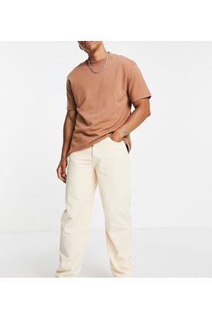 Reclaimed Men Straight - Inspired 90s baggy jeans in -White