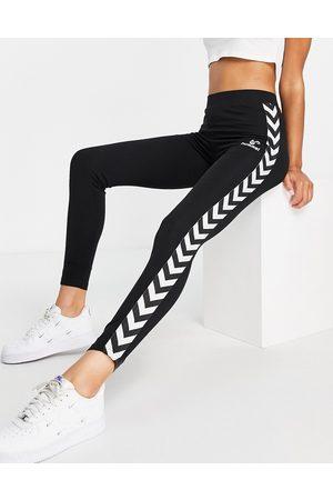 Hummel Women Sports Leggings - Classic Taped High-Waisted sports leggings in