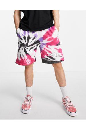 Vintage Supply Men Neckties - Tie dye branded jersey shorts in multi