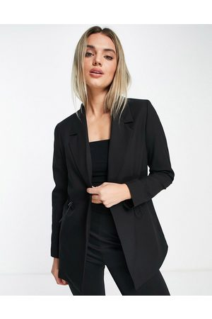 SELECTED Women Blazers - Femme blazer with toggle waist detail in