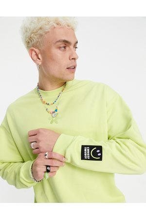 Crooked Tongues Co-ord sweatshirt with flower logo and badge in