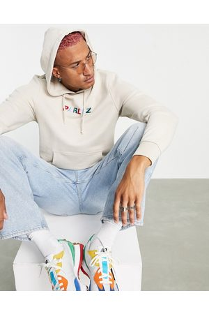 Parlez Faded embroidered hoodie in -Neutral