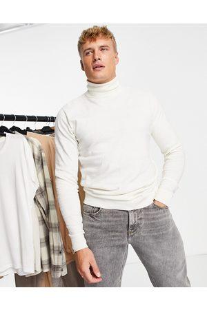Threadbare Men Turtlenecks - Cotton roll-neck jumper in -Pink