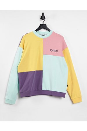 Kickers Women Sweatshirts - Relaxed sweatshirt with embroidered logo in vintage colour-block