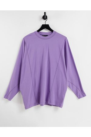 ASOS Oversized long sleeve t-shirt with batwing in purple