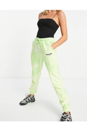 Sixth June Unisex co-ord relaxed logo trackies in wash-Green