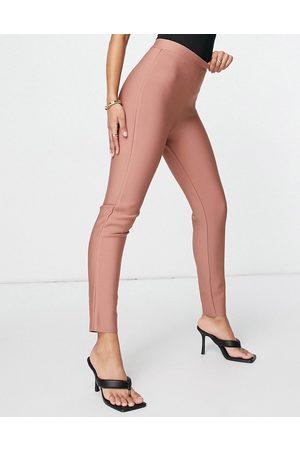 Band of Stars Bandage skinny pants in -Brown