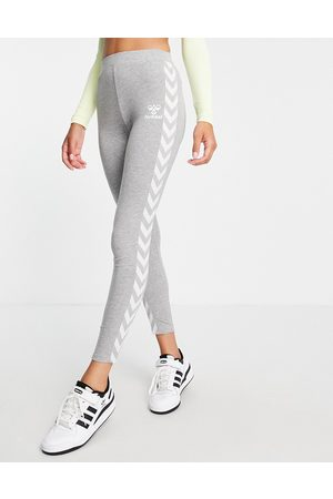 Hummel Classic Taped High-Waisted sports leggings in