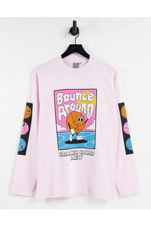 Crooked Tongues Men Long Sleeve - Long sleeve t-shirt with bounce around print in