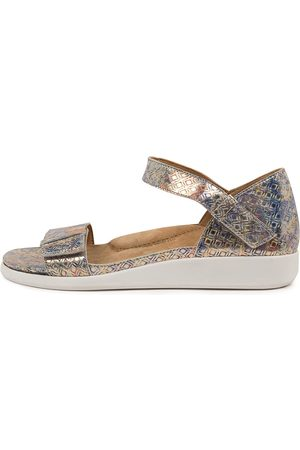 ZIERA Ilisha W Zr Pale Multi Sandals Womens Shoes Sandals Flat Sandals