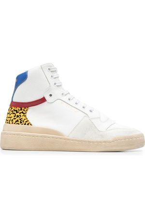 Saint Laurent Panelled mid-top sneakers