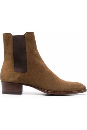 Saint Laurent Wyatt 40mm suede Chelsea boots