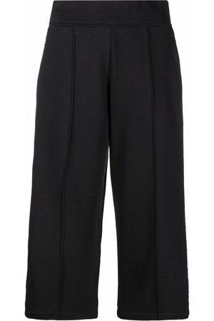 Karl Lagerfeld Bouclé-stripe cropped trousers