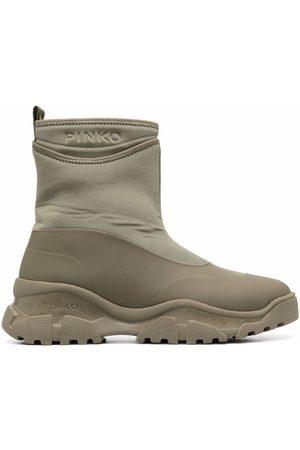 Pinko Embossed-logo chunky boots