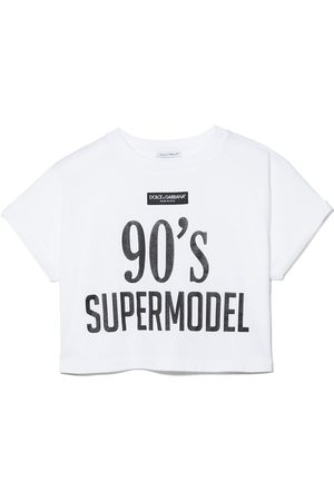 Dolce & Gabbana Slogan-print cotton T-shirt