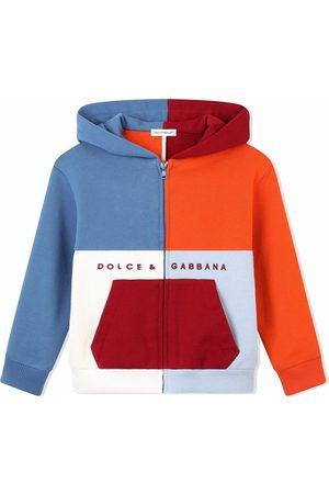 Dolce & Gabbana Colour-block zip-front hoodie