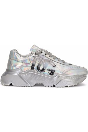 Dolce & Gabbana Women Sneakers - Holographic-effect lace-up sneakers