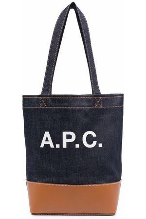 A.P.C. Women Tote Bags - Logo-printed tote