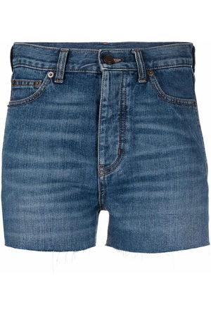 Saint Laurent Raw-cut denim shorts