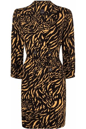 Pinko Tiger-print blazer dress