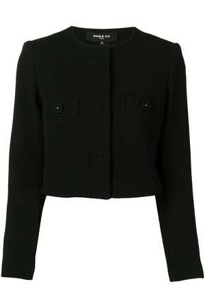 Paule Ka Collarless cropped jacket
