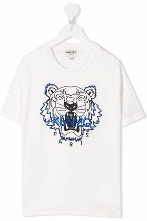 Kenzo Kids Girls Short Sleeve - Tiger Head organic cotton T-shirt