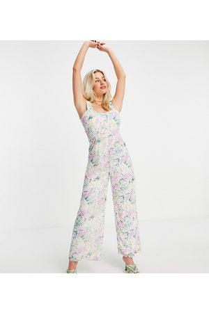 Vila Petite Women Jumpsuits - Exclusive jumpsuit in pastel florals-Multi