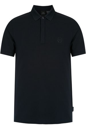 Armani Exchange Men Polo Shirts - Logo patch polo shirt
