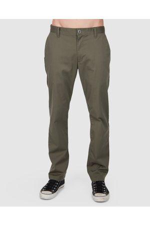 RVCA Men Stretch Pants - Weekend Stretch Pants - Pants (OLIVE ) Weekend Stretch Pants
