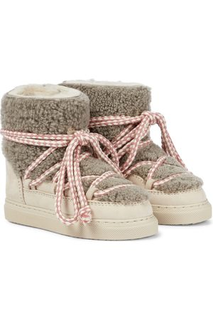 INUIKII Kids Girls Boots - Shearling-trimmed suede boots