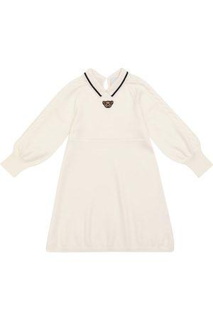 Burberry Kids Girls Knitted Dresses - Clarisa teddy wool knit dress