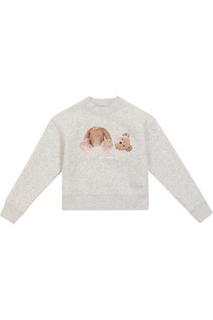 Palm Angels Kids Boys Sweatshirts - Bear cotton sweatshirt