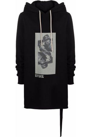 Rick Owens DRKSHDW Graphic-print longline hoodie