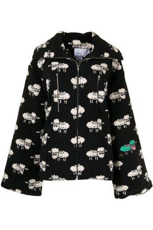 Natasha Zinko Women Fleece Jackets - Sheep-print fleece jacket
