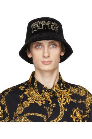 Versace Jeans Couture Men Hats - Velvet Logo Bucket Hat