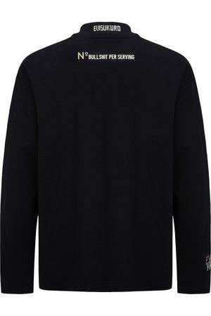 Evisu Logo Print Mock Neck Long-sleeve T-Shirt