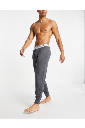 Polo Ralph Lauren Lounge trackies with logo waistband in charcoal