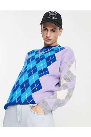 ASOS Knitted argyle jumper in