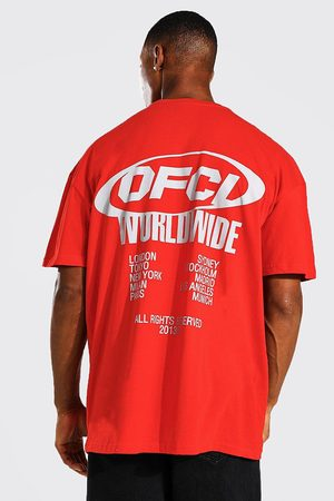 Boohoo Mens Oversized Ofcl Worldwide Graphic T-shirt