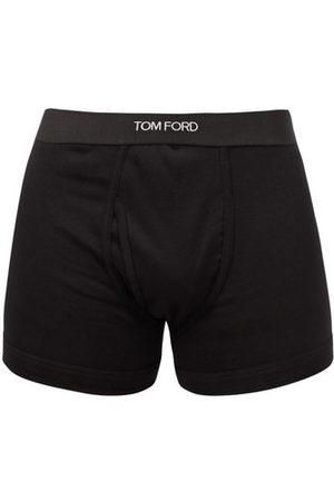 Tom Ford Men Briefs - Logo-jacquard Cotton-blend Boxer Briefs - Mens