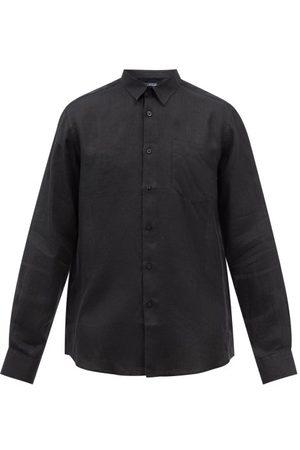 Vilebrequin Caroubis Garment-dyed Linen Shirt - Mens